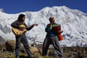 Lobpreis am Annapurnabasecamp 4130 m