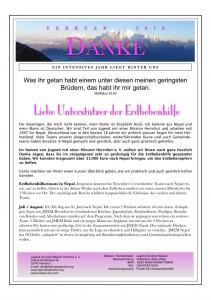 Bericht Erdbebeneinsatz 1